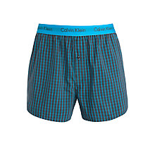 Buy Calvin Klein Underwear Micro Plaid Boxers, Blue Online at johnlewis.com