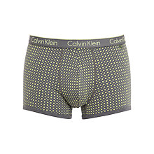 Buy Calvin Klein Underwear Polka Dot Trunks, Grey/Yellow Online at johnlewis.com