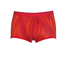 Buy Calvin Klein Underwear CK One Micro Low Rise Wave Print Trunks, Red/Orange Online at johnlewis.com