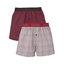 Buy Calvin Klein Underwear Holiday Woven Boxers, Pack of 2 Online at johnlewis.com