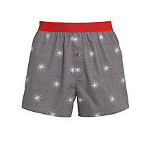 Buy Calvin Klein Underwear Holiday Woven Boxers, Pack of 2, Grey/Red Online at johnlewis.com