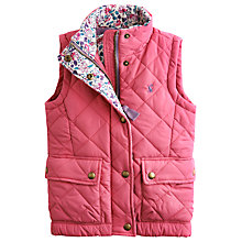 Buy Little Joule Girls' Lowen Gilet, Pink Online at johnlewis.com