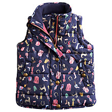 Buy Little Joule Girls' Marsha Horse Padded Gilet, Navy Online at johnlewis.com