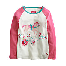 Buy Little Joule Girls' Lucille Horse Top, Pink Online at johnlewis.com