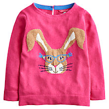 Buy Little Joule Girls' Chrissie Rabbit Jumper Online at johnlewis.com