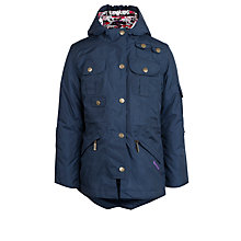 Buy Barbour Hello Kitty Girls' Molly Parka Jacket, Navy Online at johnlewis.com