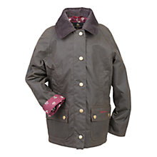 Buy Barbour Girls' Chamber Beadnell Waxed Jacket, Green Online at johnlewis.com