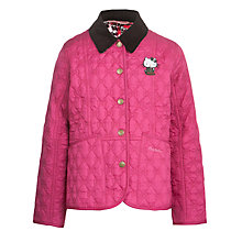 Buy Barbour Girls' Hello Kitty Rosie Quilt Jacket, Pink Online at johnlewis.com