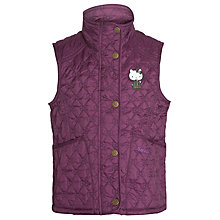 Buy Barbour Girls' Sadie Hello Kitty Quilted Gilet, Purple Online at johnlewis.com