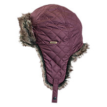 Buy Barbour Girls' Margrove Quilted Trapper Hat, Maroon Online at johnlewis.com