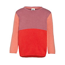 Buy Kin by John Lewis Girls' Colour Block Jumper, Peach/Orange Online at johnlewis.com