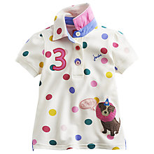 Buy Little Joule Girls' Moxi Spotty Dog Polo Shirt, Multi Online at johnlewis.com