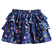 Buy Little Joule Girls' Lucy Horse Print Skirt, Navy Online at johnlewis.com