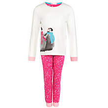 Buy John Lewis Girl Penguin Pyjamas, Pink Online at johnlewis.com