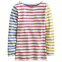 Buy Little Joule Girls' Marina Long Sleeve Breton Stripe Top, Multi Online at johnlewis.com
