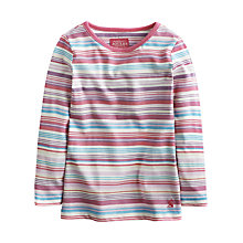 Buy Little Joule Girls' Pickle Multi Striped Top, Multi Online at johnlewis.com