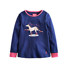 Buy Little Joule Girls' Ava Horse Top, Navy Online at johnlewis.com