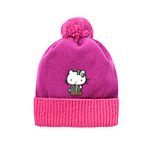 Buy Barbour Girls' Hello Kitty Bobble Hat, Purple Online at johnlewis.com