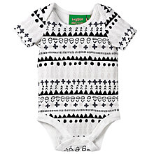 Buy Donna Wilson for John Lewis Baby Aztec Print Bodysuit, White/Black Online at johnlewis.com