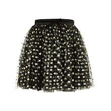 Buy Yumi Girl Star Sparkle Tulle Skirt, Black/Gold Online at johnlewis.com