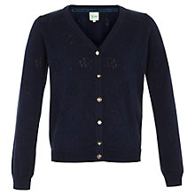 Buy Yumi Girl Pointelle Flower Cardigan, Black Online at johnlewis.com