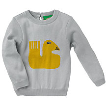 Buy Donna Wilson for John Lewis Baby Duck Intarsia Knit Jumper, Grey Online at johnlewis.com