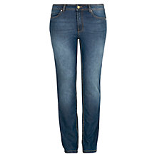 Buy Violeta by Mango Straight-Fit Ely Jeans, Navy Online at johnlewis.com