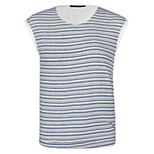 Buy Violeta by Mango Striped T-Shirt, Dark Blue Online at johnlewis.com