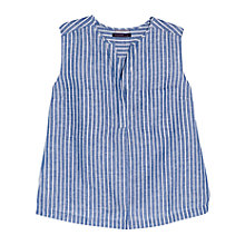Buy Violeta by Mango Stripe Linen Blend Blouse, Blue Online at johnlewis.com