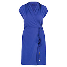 Buy Violeta by Mango Flowy Wrap Dress, Dark Blue Online at johnlewis.com