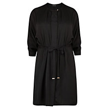 Buy Violeta by Mango Grosgrain Satin Dress, Black Online at johnlewis.com