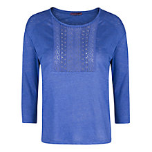 Buy Violeta by Mango Crochet Linen T-Shirt Online at johnlewis.com