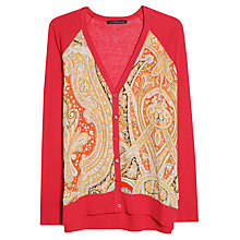Buy Violeta by Mango Printed Front Cardigan, Red/Multi Online at johnlewis.com