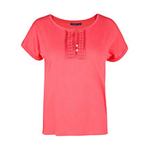 Buy Violeta by Mango Embroidered Detail T-Shirt Online at johnlewis.com