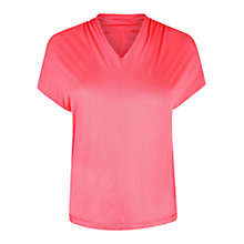 Buy Violeta by Mango Draped V-Neck T-Shirt Online at johnlewis.com