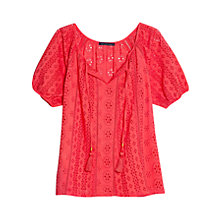 Buy Violeta by Mango Broderie Anglaise Cotton Blouse Online at johnlewis.com