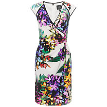 Buy Adrianna Papell Frame Surplice Dress, White Multi Online at johnlewis.com