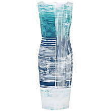 Buy Adrianna Papell Printed Sheath Dress, Teal Multi Online at johnlewis.com