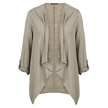 Buy Violeta by Mango Linen Waterfall Jacket Online at johnlewis.com