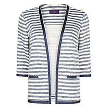 Buy Violeta by Mango Grosgrain Striped Jacket, Natural White Online at johnlewis.com