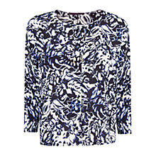 Buy Violeta by Mango Floral Print Blouse, Navy Online at johnlewis.com