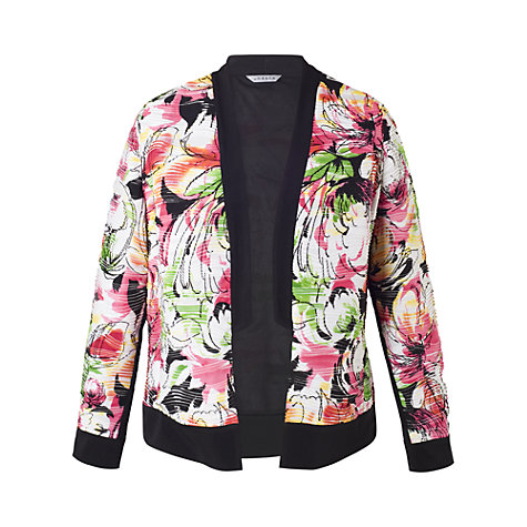 Buy Chesca Carnival Contrast Trim Shrug, Multi Online at johnlewis.com