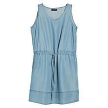 Buy Violeta by Mango Drawstring Tencel Dress, Medium Denim Online at johnlewis.com