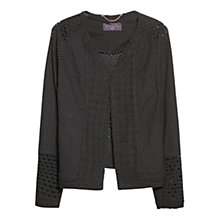 Buy Violeta by Mango Contrast Broderie Anglaise Jacket, Navy Online at johnlewis.com