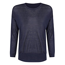 Buy Violeta by Mango Linen-Blend Combi Jumper Online at johnlewis.com