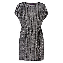 Buy Violeta by Mango Monochrome Print Dress, Black Online at johnlewis.com