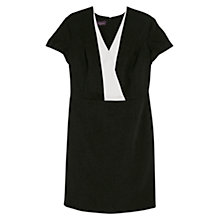 Buy Violeta by Mango Contrast Lapel Dress, Black Online at johnlewis.com