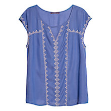 Buy Violeta by Mango Geometric Embroidered Blouse Online at johnlewis.com