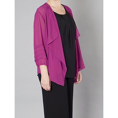Buy Chesca Cinderella Trim Waterfall Shrug, Bright Pink Online at johnlewis.com
