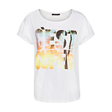Buy Violeta by Mango C'est Super T-Shirt, White Online at johnlewis.com